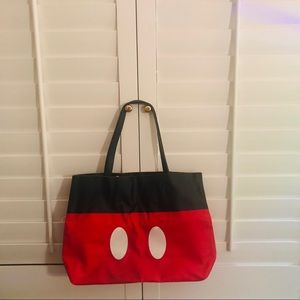 Large Saffiano Reversible Mickey & Minnie Tote